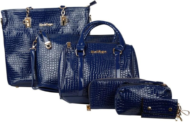 Mei&Ge Women Blue Shoulder Bag