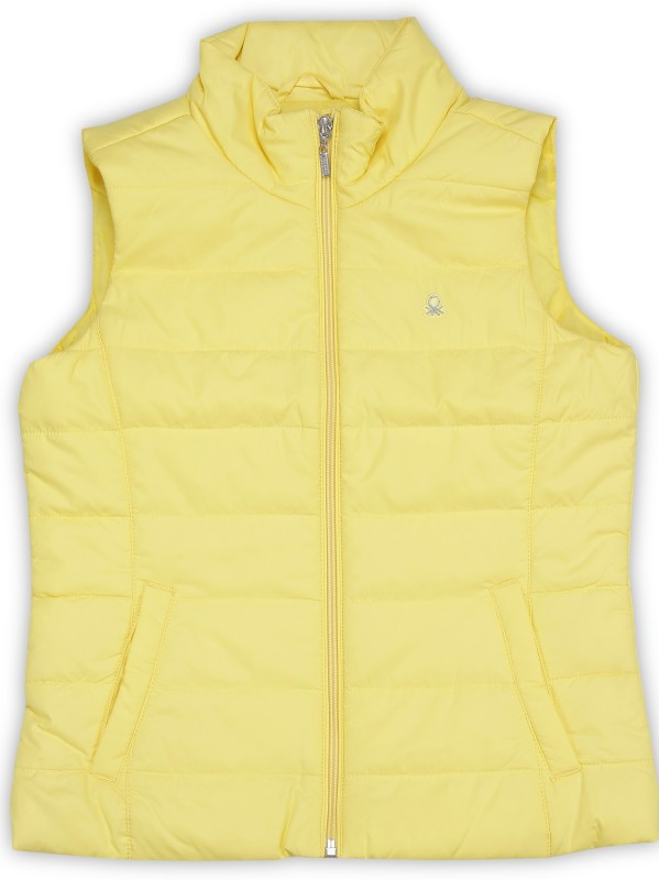 United Colors of Benetton Sleeveless Solid Girls Jacket
