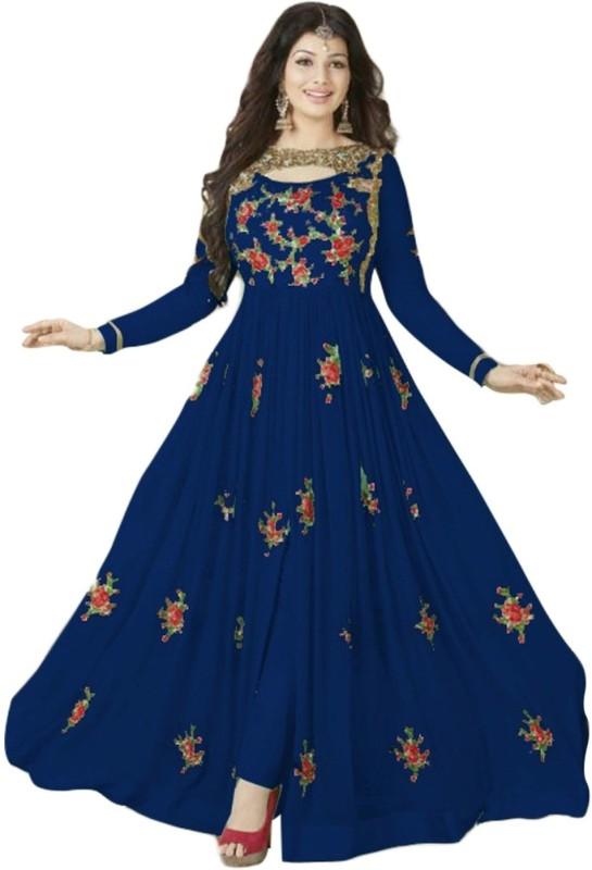 Fashionuma Georgette Embroidered Semi-stitched Salwar Suit Dupatta Material