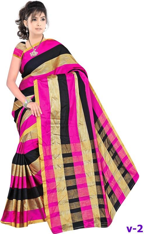 Reya Self Design Bhagalpuri Kota Silk Saree(Multicolor)