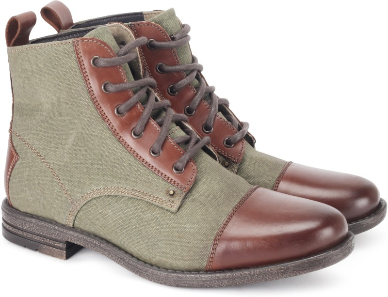 Levis Jeoffery Awler Boots For Men(Olive, Brown)