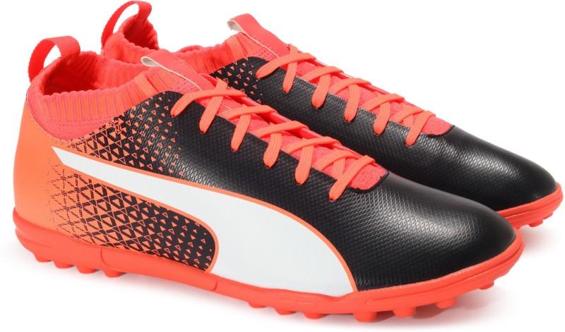 Puma evoKNIT FTB TT Football Shoes For Men(Black)