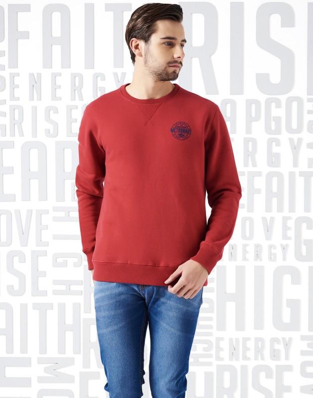 Metronaut Full Sleeve Solid Men's Sweatshirt