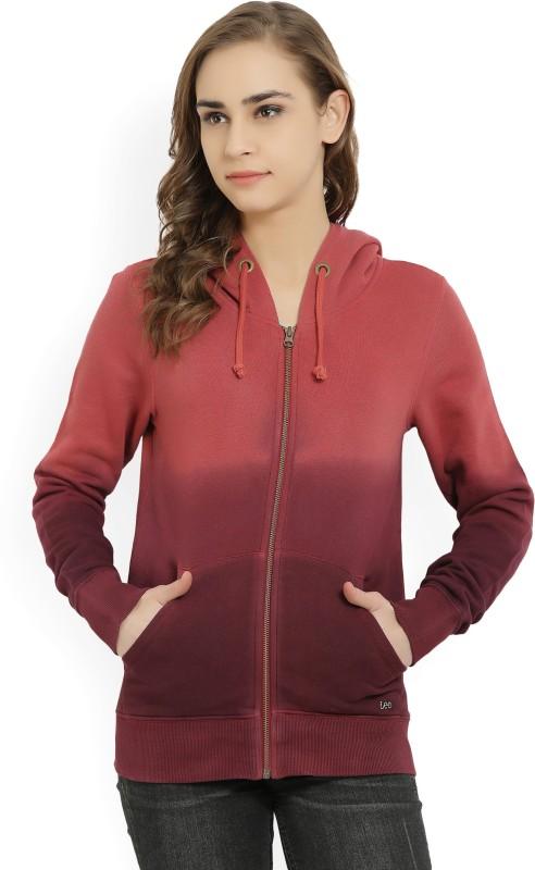 Lee Full Sleeve Solid Women Sweatshirt