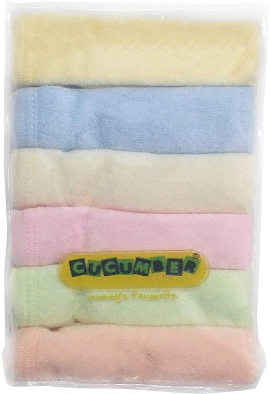 Cucumber Cotton 2000 GSM Face Towel Set(Pack of 6, Multicolor)