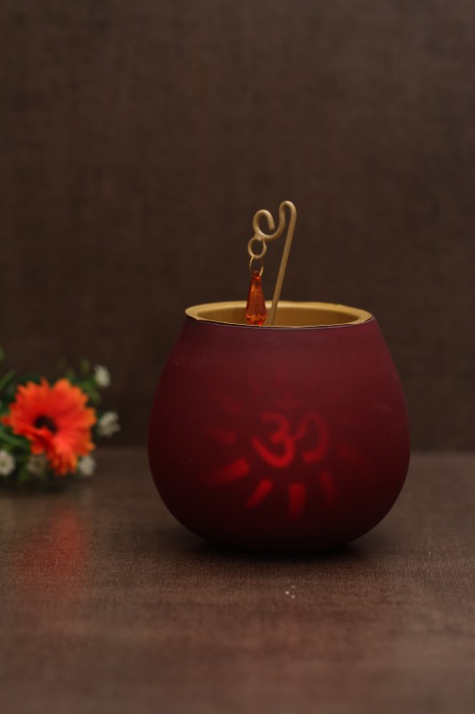 Borosil Decorative Tea Light Candle(Red, Pack of 1)