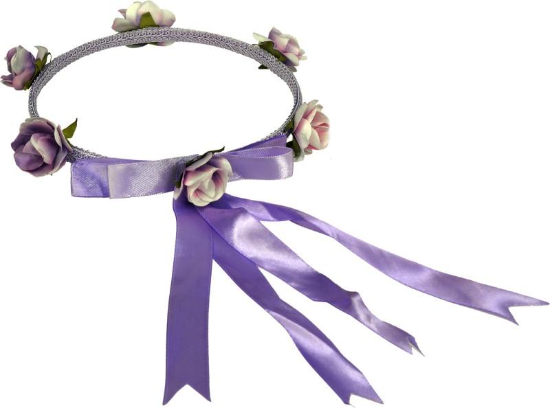 Sagunya Floral Tiara Head Band(Purple)