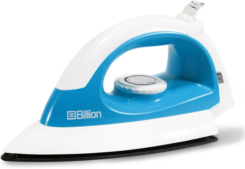 Billion 1000 W Non-stick Compact XR127 Dry Iron(White and Sky Blue)