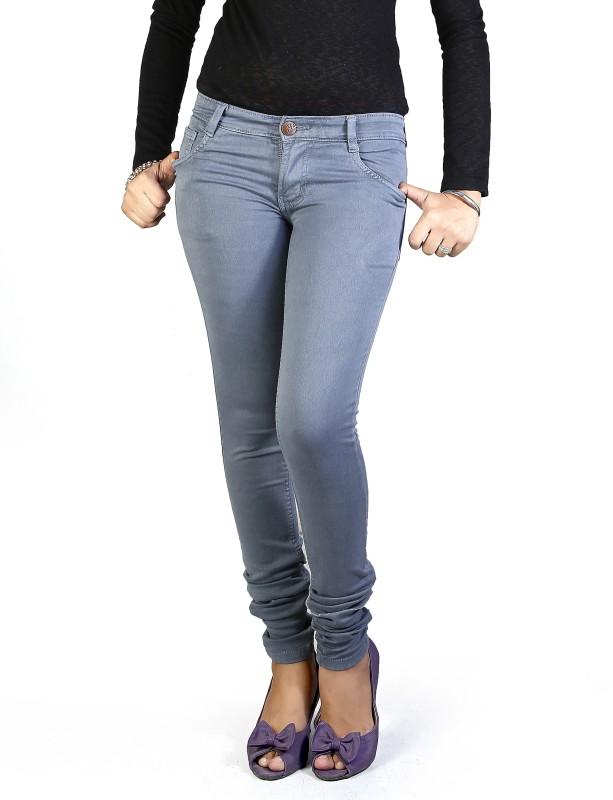 Mystix Skinny Women Grey Jeans