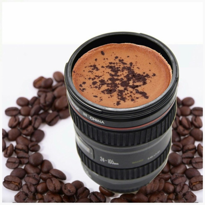 NK-STORE Camera Lens With ,Stainless Steel Travel Thermos Camera Lens Coffee Tea Cup Coffee Cup Stainless Steel Mug(300 ml)