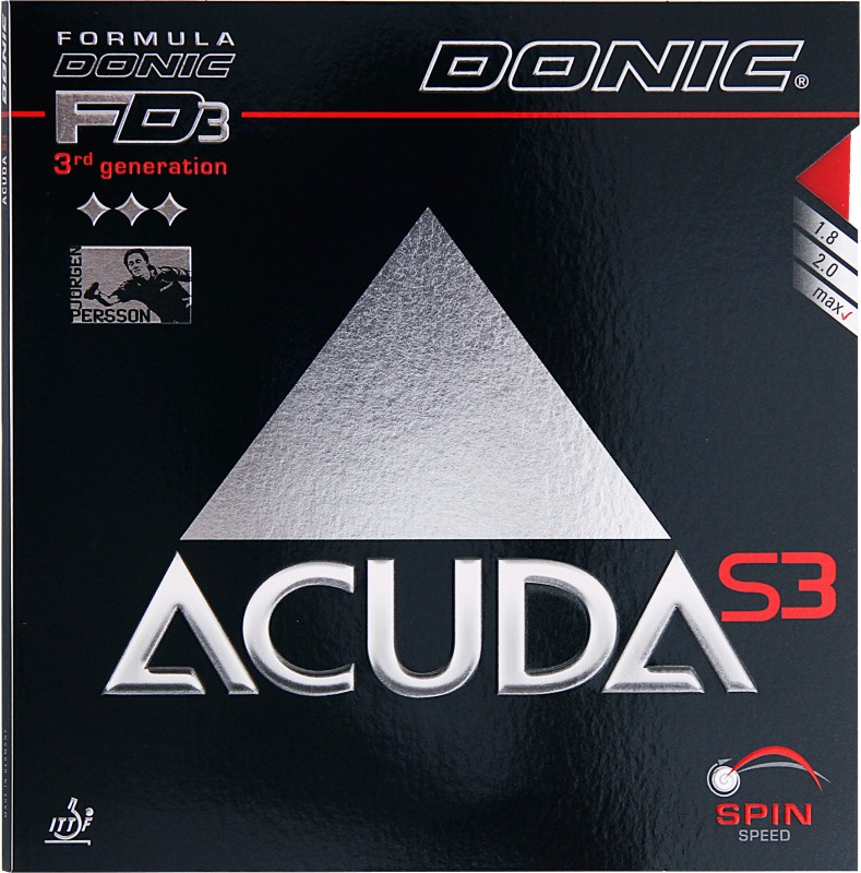 Donic Accuda S3 11.3 mm Table Tennis Rubber(Red)