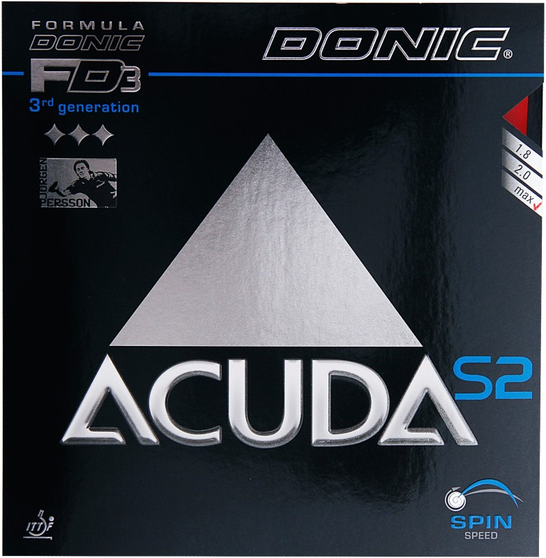 Donic Accuda S2 11.3 mm Table Tennis Rubber(Red)