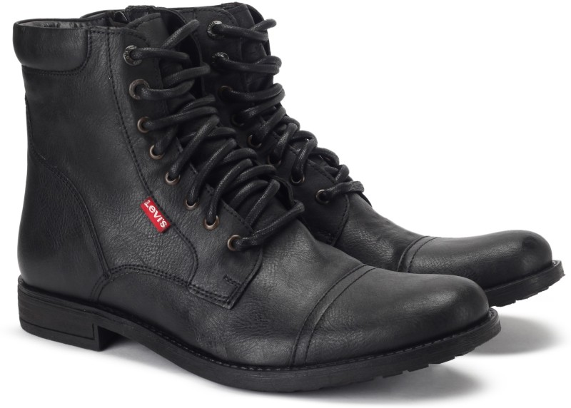 Levis NY Runner Boots For Men(Black)