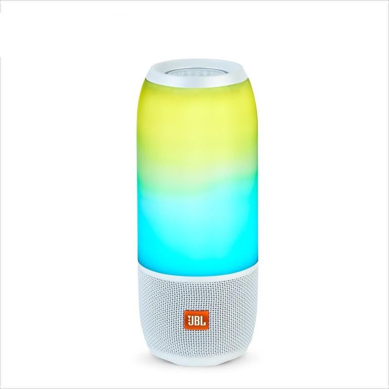 JBL Pulse 3 Bluetooth Speaker(White, Stereo Channel)
