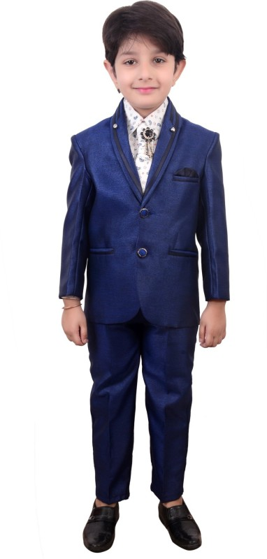 Arshia Fashions Boys Coat Suit Solid Boys Suit