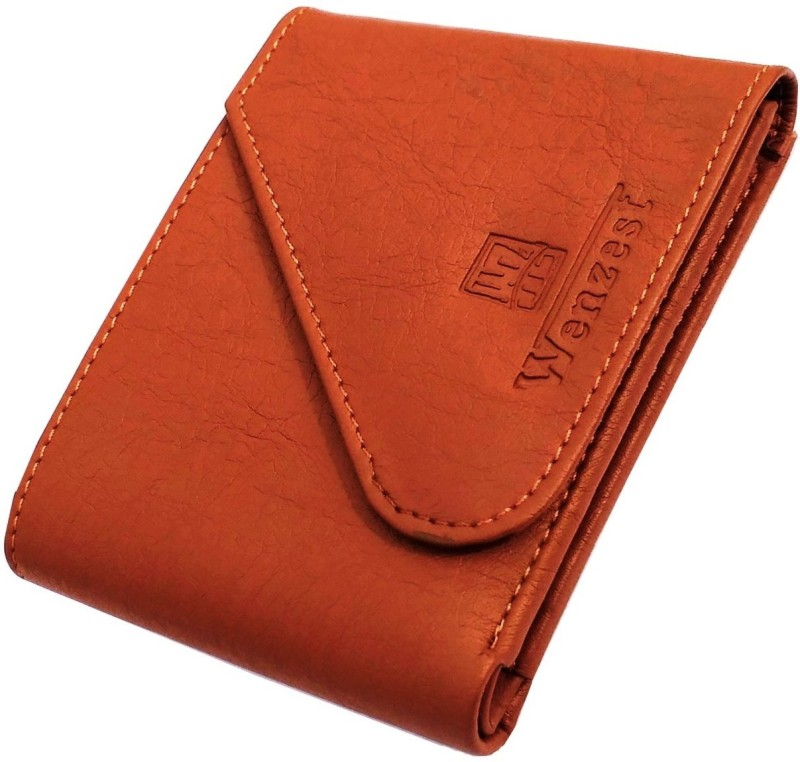 wenzest Men Tan Artificial Leather Wallet(3 Card Slots)