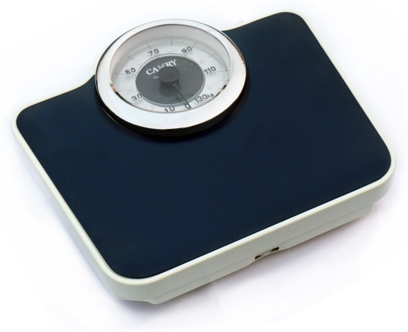 GVC Chrome Plated Dial Ring - Large Surface Iron Analog Weighing Scale(Dark Blue)