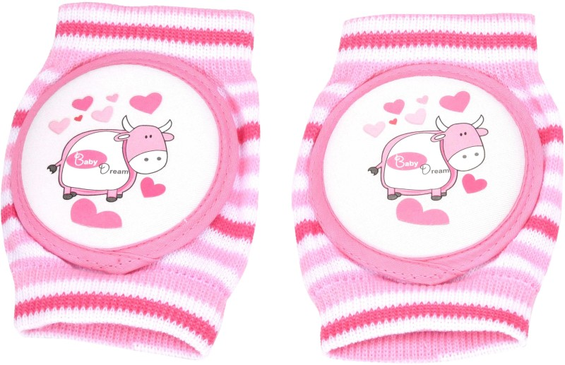 GoodStart Baby Knee Protector Pad in Pink Color For Crawling Babies, made up of Hosiery Cotton Pink Baby Knee Pads(Printed)