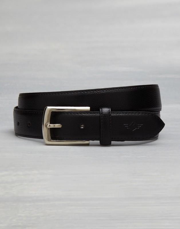 Metronaut Men Casual Black Texas Leatherite Belt
