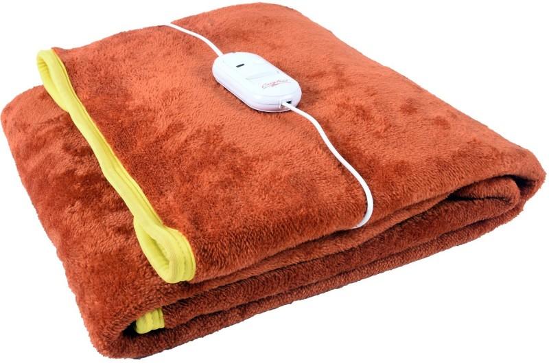 Cozyland Plain Single Electric Blanket Rust(Coral Blanket, 1)