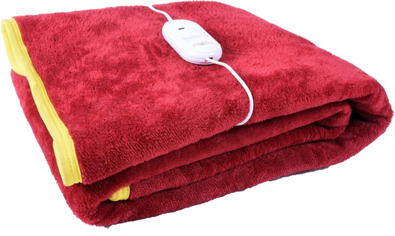 Cozyland Plain Single Electric Blanket Maroon(Coral Blanket, 1)