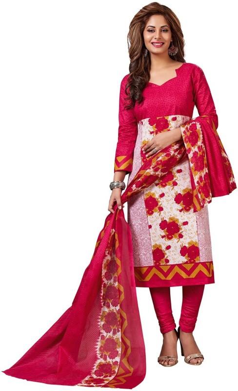 Jevi Prints Cotton Floral Print, Printed Salwar Suit Dupatta Material(Un-stitched)