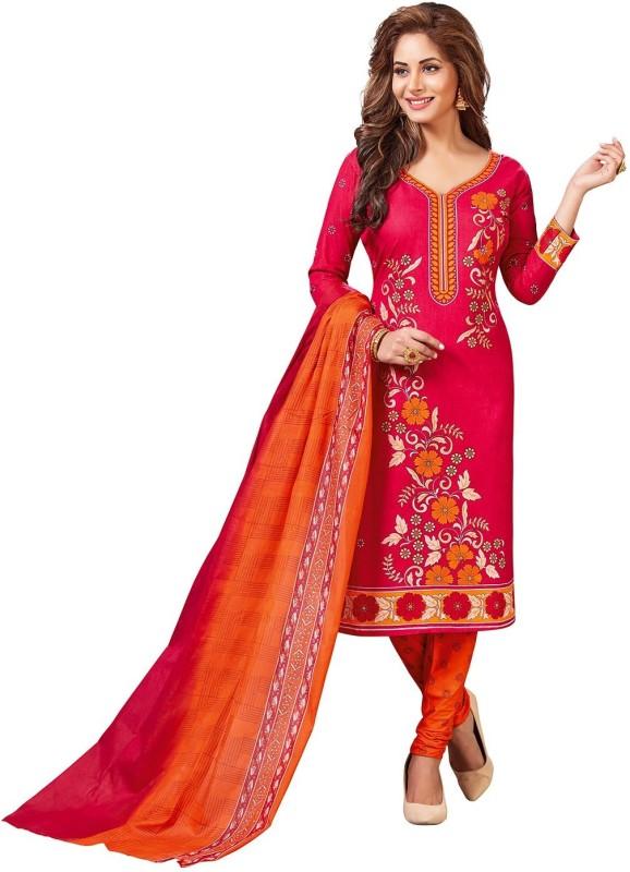 Jevi Prints Cotton Floral Print Salwar Suit Dupatta Material(Un-stitched)