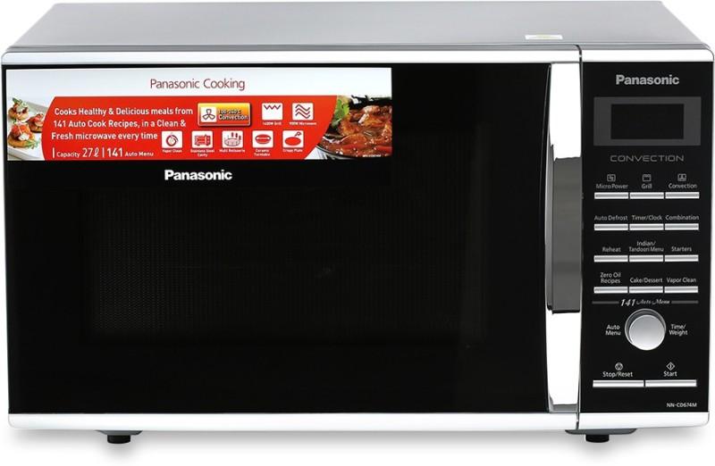 Panasonic 27 L Convection Microwave Oven(NN-CD674MFDG, Silver)