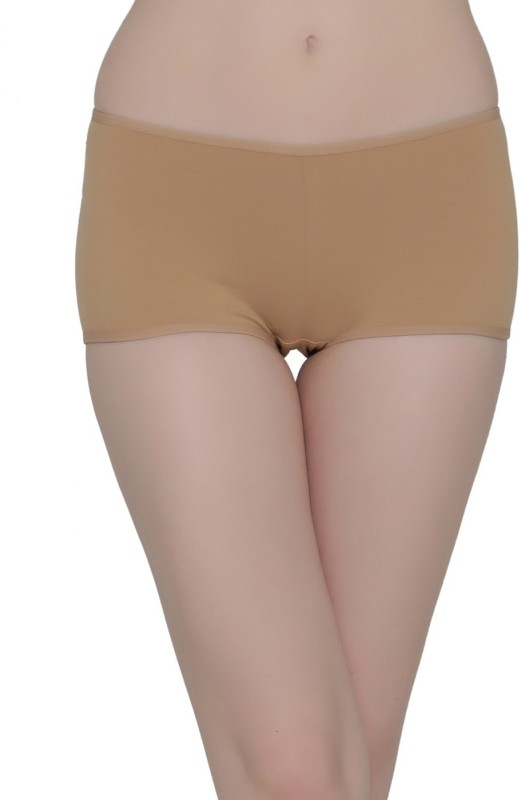 Clovia Womens Boy Short Beige Panty(Pack of 1)