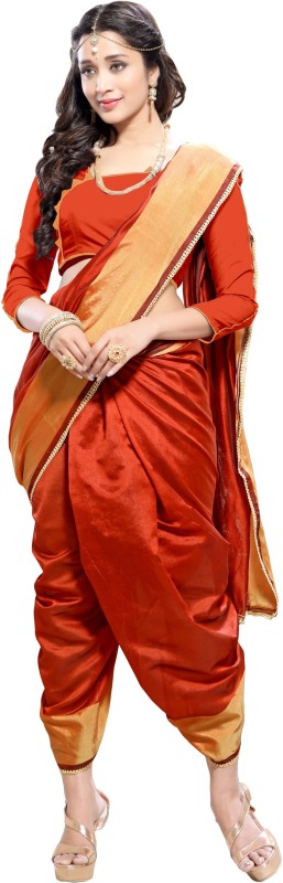 BAPS Embroidered Bollywood Cotton Silk Saree(Red)