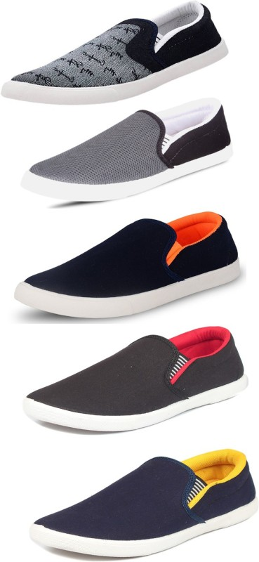 SCATCHITE Slip On Sneakers For Men(Multicolor)
