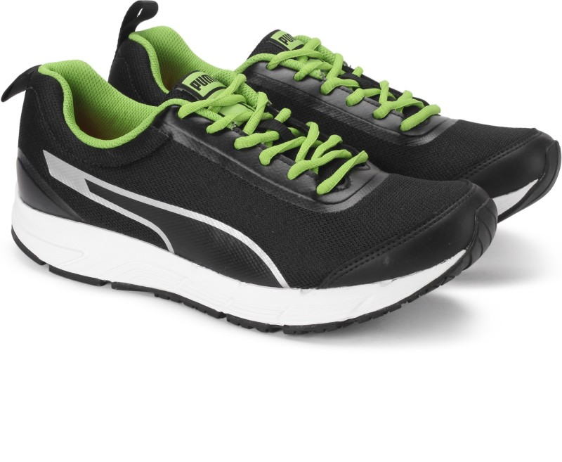 Puma Rafter II IDP Running Shoes For Men(Black, Green)