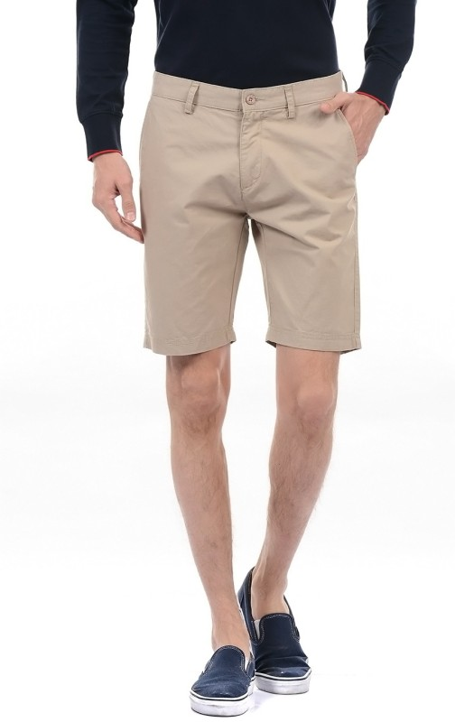 Izod Solid Men Beige Basic Shorts