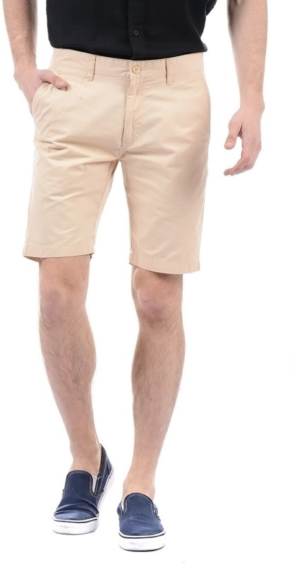 Izod Solid Men Beige Basic Shorts
