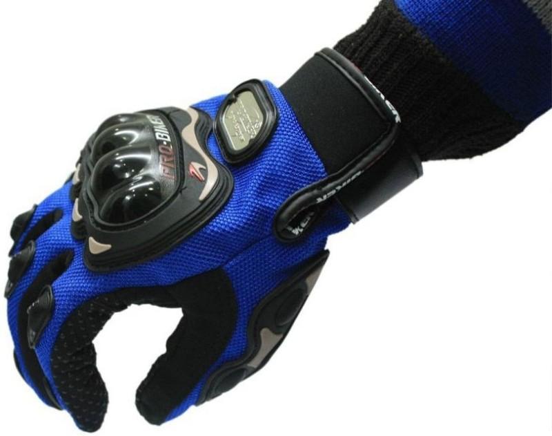 JMD Pro-biker Blue Glove Riding Gloves(Blue)