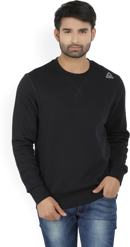 Reebok Full Sleeve Solid Men's Sweatshirt