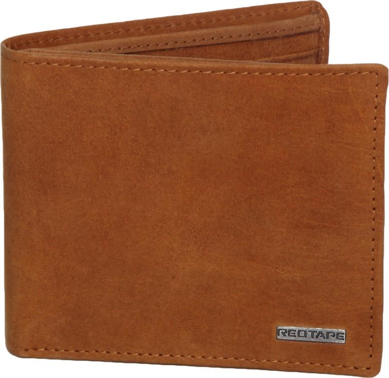 Red Tape Men Brown Genuine Leather Wallet(6 Card Slots)