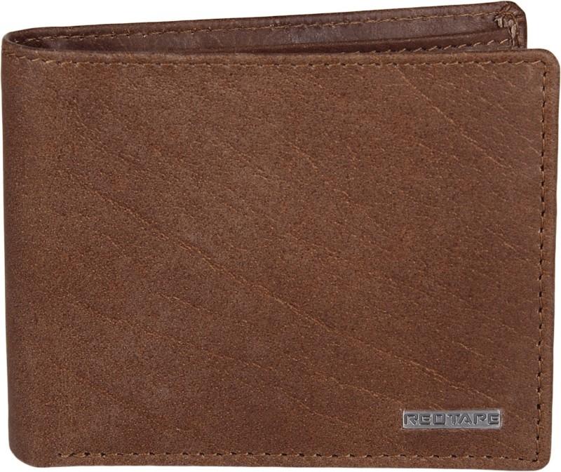 Red Tape Men Tan Genuine Leather Wallet(4 Card Slots)
