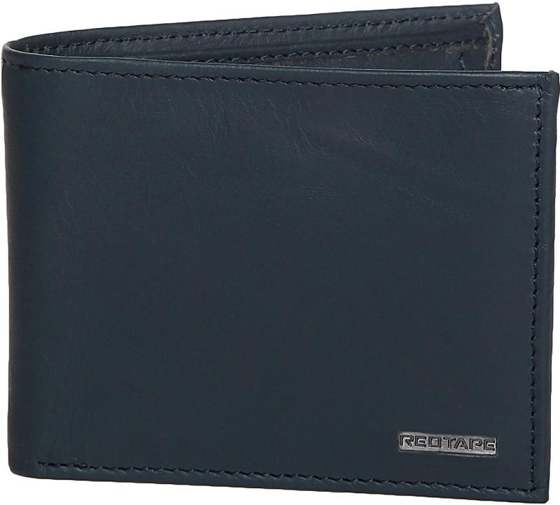 Red Tape Men Blue Genuine Leather Wallet(4 Card Slots)