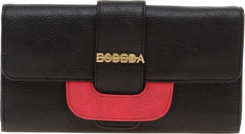 Esbeda Women Black Artificial Leather Wallet(8 Card Slots)
