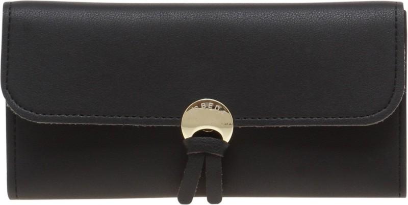 Esbeda Women Black Artificial Leather Wallet(13 Card Slots)