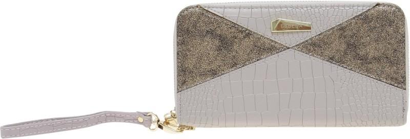 Esbeda Women Grey Artificial Leather Wallet(18 Card Slots)