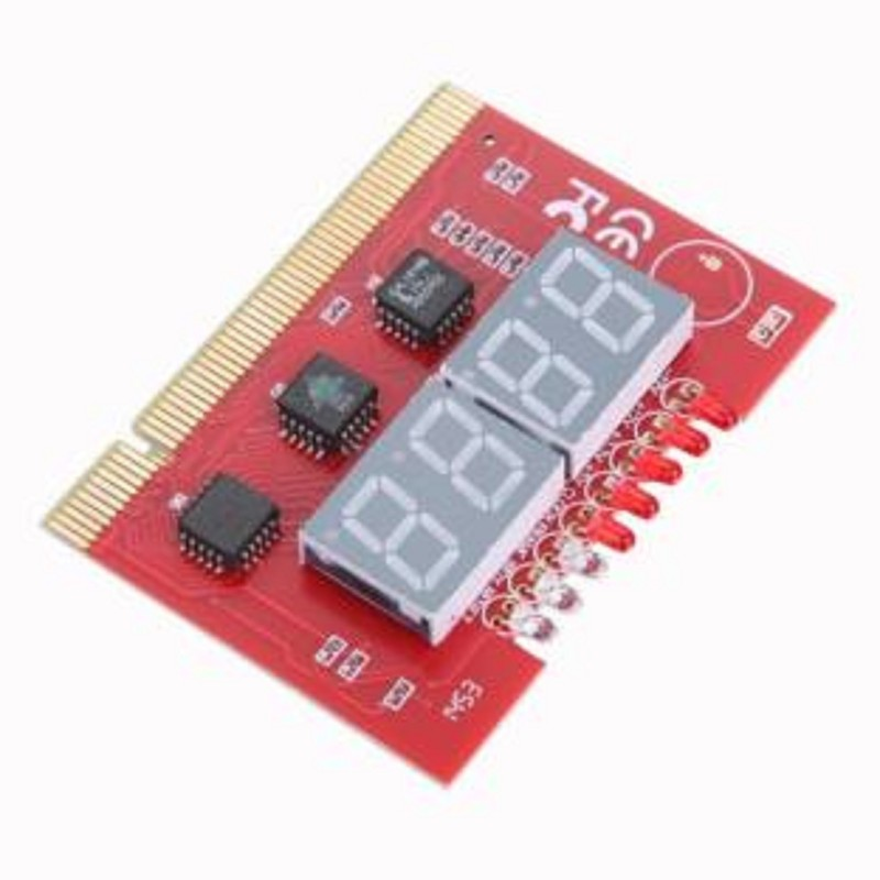 TECHON PC 4-digit Code Diagnostic Analyzer Card Motherboard (Red) Motherboard