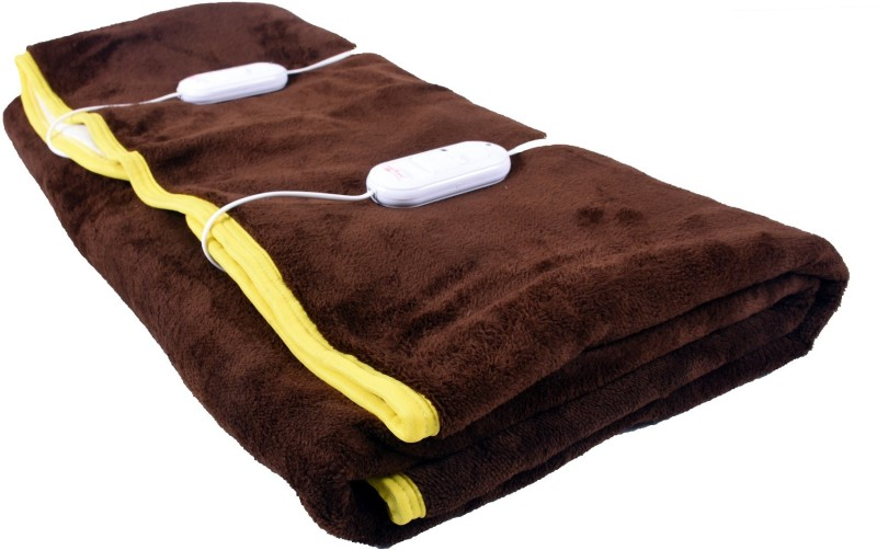 Cozyland Plain Double Electric Blanket Brown(Coral Blanket, 1)