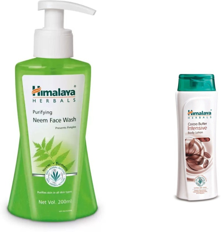 Himalaya neem face wash, cocoa butter intensive body lotion(2 Items in the set)