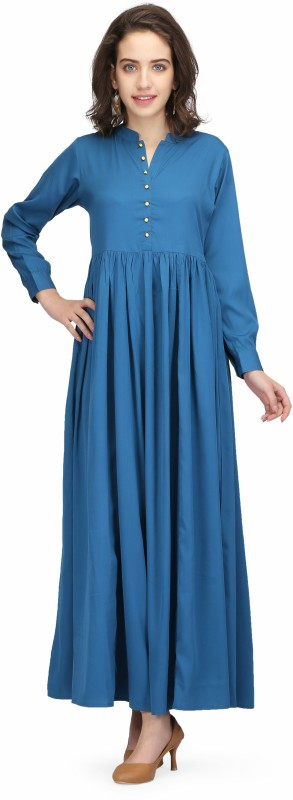 Printemps Women's Maxi Blue Dress