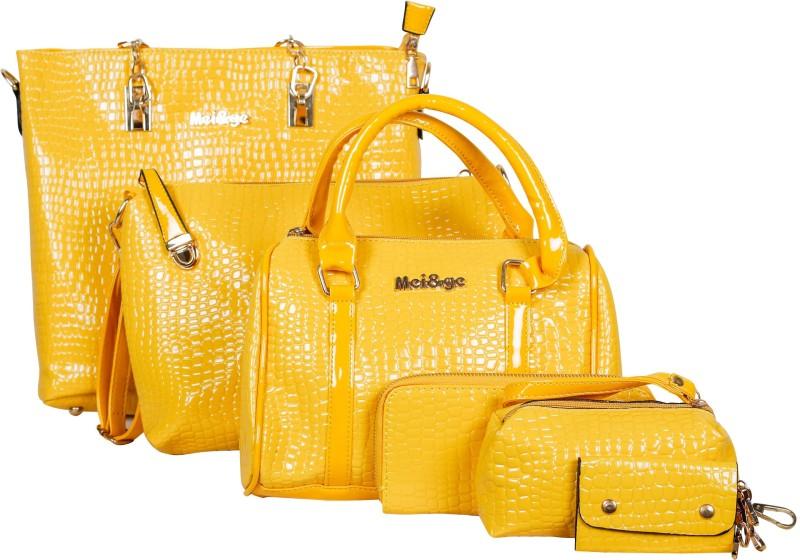 Mei&Ge Women Yellow Shoulder Bag