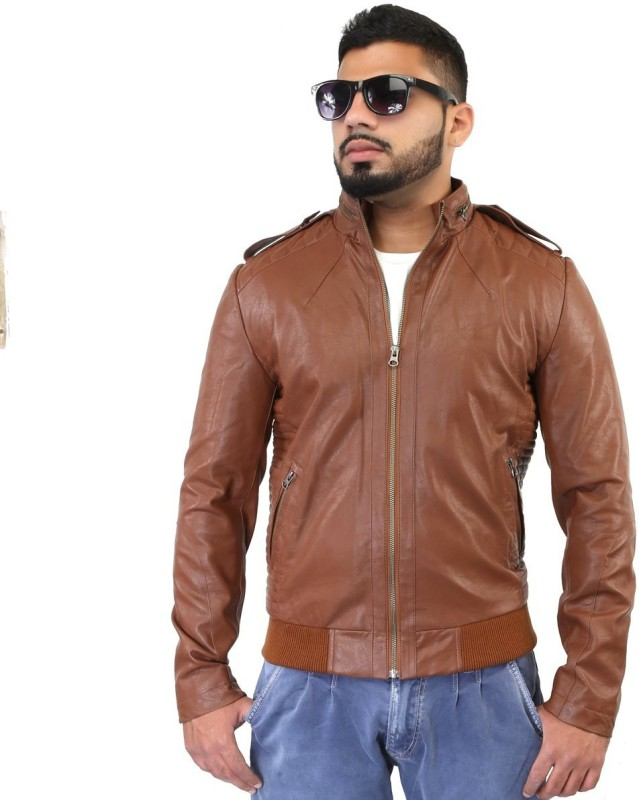 Bare Skin Full Sleeve Solid Men Jacket