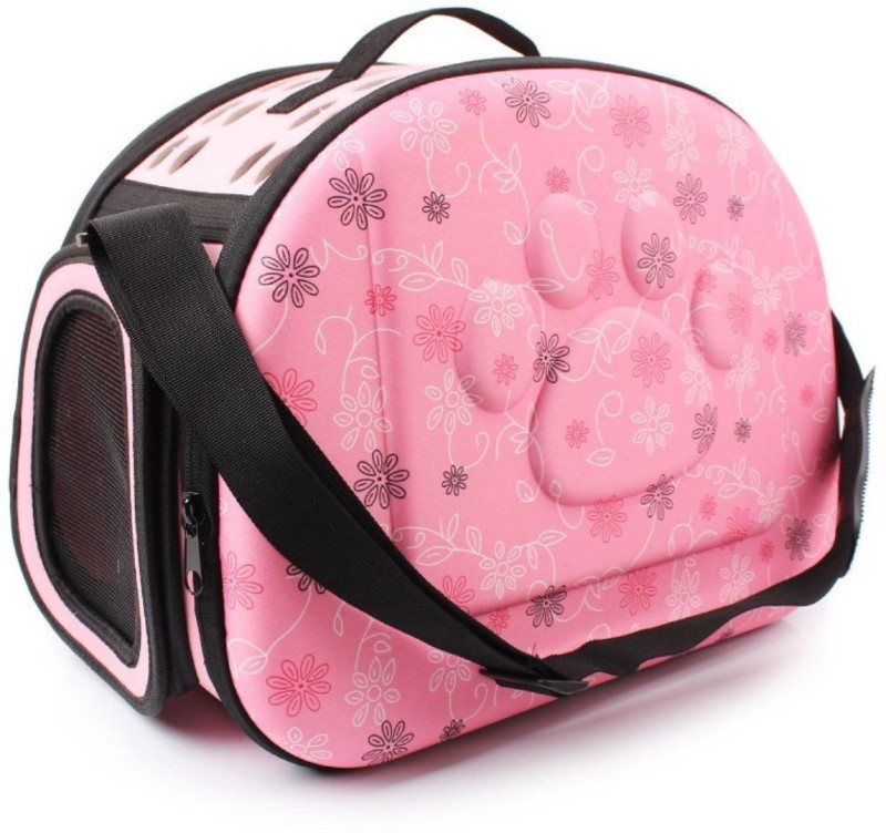 SRI High Quality Fashionable Travel Pet Storage Fold Able Pet Carrier Bag For Cat And Puppy Pink Airline Pet Carrier(Suitable For Dog, Cat)