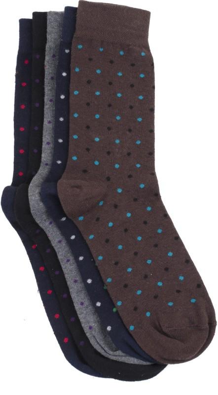 Tossido Mens Woven Crew Length Socks(Pack of 5)